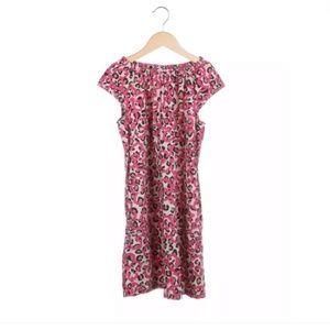 Hanna Andersson dress 140 girls 10 pink brown